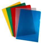 proOFFICE Pochette transparente, A4, PP, granuleux, rouge