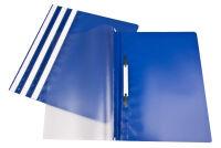 proOFFICE Chemise à lamelles, A4, film PP, bleu foncé