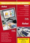 FOLEX Film laser couleur CLP Adhesives P WO, format A4