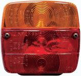 IWH Feu arrière de remorque, 3 fonctions, sans ampoule