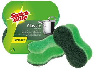 Scotch-Brite Eponge à récurer Classic Comfort, couleur: vert