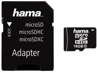 hama Carte mémoire Micro SecureDigital High Capacity, 16 Go