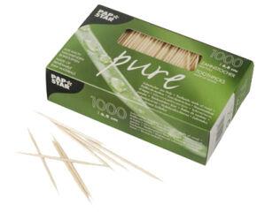 PAPSTAR Cure-dent 'pure', en bois, rond, longueur: 68 mm