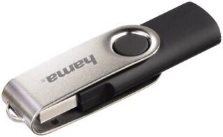hama Clé USB 2.0 Flash Drive 'Rotate', 16 GB, noir / argent