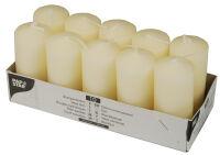 PAPSTAR Bougies cylindriques, diamètre: 40 mm, crème
