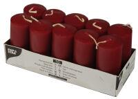 PAPSTAR Bougies cylindriques, diamètre: 40 mm, bordeaux