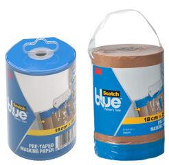 Accessoire, 3M ScotchBlue Papier de protection avec bande adhésive