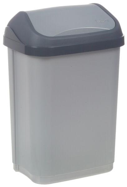 keeeper 6440068 5 90 keeeper poubelle 39 swantje 39 10 litres argent anthracite. Black Bedroom Furniture Sets. Home Design Ideas