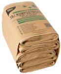 PAPSTAR Sacs compostables, marron, 10 litres
