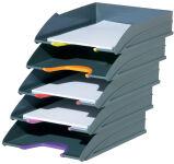 DURABLE Set de bac à courrier VARICOLOR, gris / couleurs