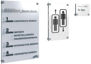 kerkmann Plaque de porte Sign, A6, verre acrylique