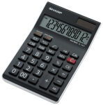 SHARP Calculatrice table EL-124 TWH, fonctionnement solaire/