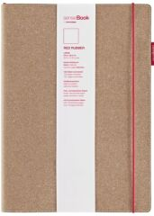 transotype Bloc-notes 'senseBook RED RUBBER', large, uni