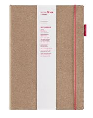transotype Bloc-notes 'senseBook RED RUBBER', large, ligné