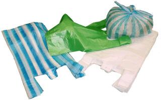dm-folien Sac en plastique, en bloc, en HDPE, blanc
