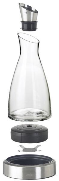 emsa 6460047 33 90 emsa carafe fra cheur flow 1 litre verre acier inoxydable. Black Bedroom Furniture Sets. Home Design Ideas