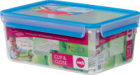 emsa Boîte de conservation CLIP & CLOSE, 3,70 l, transparent