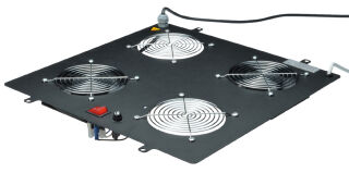 DIGITUS Unité de ventilation de toit,4 ventilateurs,gris clr