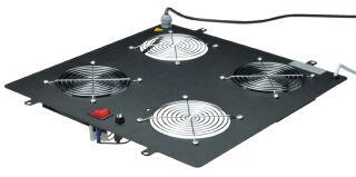DIGITUS Unité de ventilation, 4 ventilateurs, noir