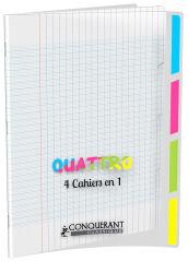 CONQUERANT CLASSIQUE Cahier '4 en 1', 240 x 320 mm, seyès
