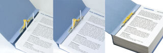 PLUS JAPAN Classeur d'archives ZEROMAMAX, A4 large, gris