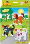 Hama Perles à repasser midi 'chien et chat', paquet cadeau,
