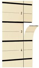 herlitz Intercalaires, A4, carton kraft, beige