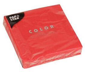PAPSTAR Serviettes de cocktail, 240 x 240 mm, rouge