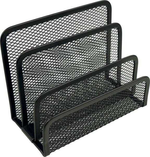 helit 5170382 3 90 helit trieur courrier mesh en fil m tal noir. Black Bedroom Furniture Sets. Home Design Ideas