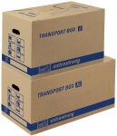 tidyPac carton de transport L, avec porte-étiquettes,