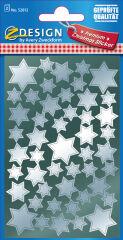 AVERY Zweckform ZDesign Stickers de Nöel 'étoiles', argent