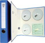 RNK Verlag Classeur pour disques à diagramme, bleu
