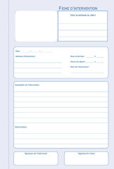 ELVE Manifold 'Fiche d'intervention', original + 2 duplicata