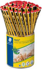 STAEDTLER Crayon de papier Noris avec gomme, pot de 72