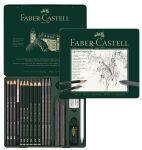FABER-CASTELL Kit PITT GRAPHITE medium, étui de 19 pièces