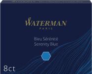 WATERMAN Cartouches d'encre longues bleu, effaçable, blister