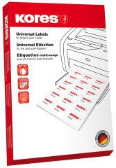 Kores Etiquette universelle, 99,1 x 33,9 mm, blanc