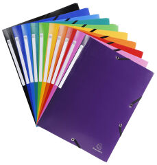 EXACOMPTA Chemise à élastiques Opaque, PP, A4, bleu clair