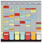 FRANKEN tableau planning à fiches 'OfficePaner', 7 modules,