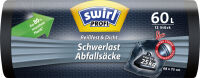 swirl Profi Sac poubelle renforcé, noir, 120 litres