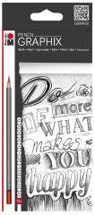 Marabu Crayon de papier 'GRAPHIX', étui de 12 en carton,