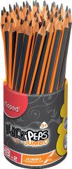 Maped Crayon de papier BLACK'PEPS JUMBO, dureté:HB,pot de 46