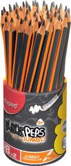 Maped Crayon BLACK'PEPS JUMBO, avec gomme, pot de 46 pièces