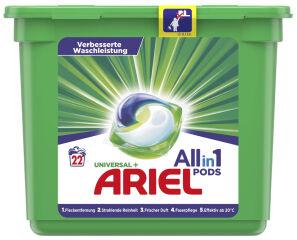 ARIEL Lessive 3en1 PODS REGULIER, 22 lavages