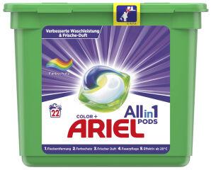 ARIEL Lessive 3en1 PODS COLOUR & STYLE, 22 lavages