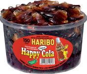 HARBIO bonbons gélifié HAPPY COLA, boîte ronde de 150,