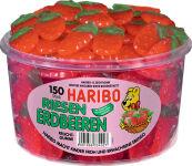 HARIBO Bonbons gélifiés aux fruits FRAISES GÉANTES, 150 pcs