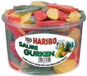 HARIBO Bonbons gélifiés aux fruits CONCOMBRES ACIDES,150 pcs