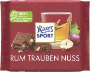 Ritter SPORT Tablette de chocolat RHUM RAISIN NOISETTE,100 g