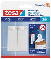Clou adhésif Powerstrips pour carrelage et métal, 3kg - Tesa